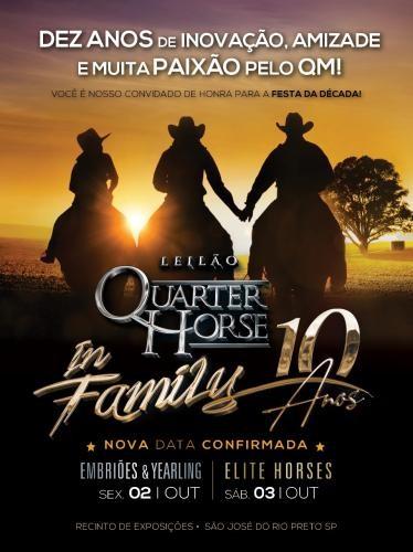 6º Leilão Quarter Horse In Family - Embriões, Babies e Yearl